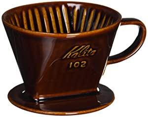 Kalita Ceramic Coffee Dripper (Brown) for 2-4 Cups by