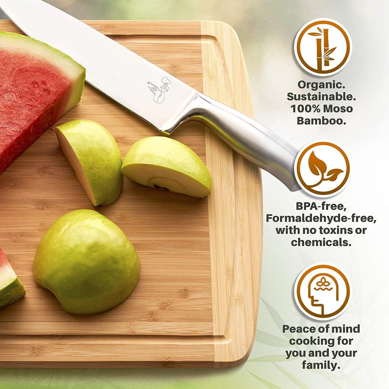 Amazon.com: Greener Chef - Tabla de cortar de bambú ...