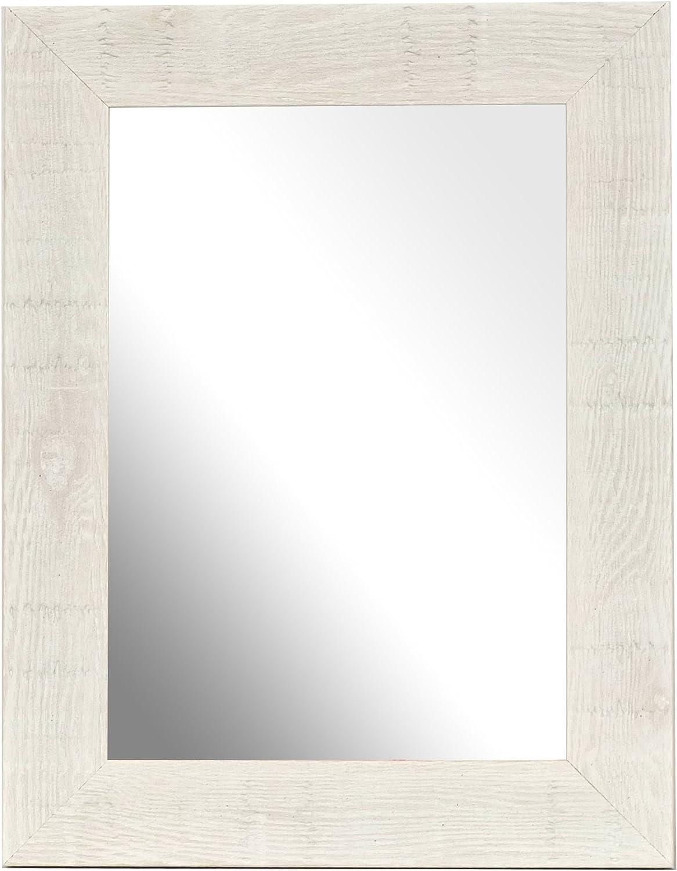 13 x 18 cm Miroir en Bois flott/é Traditionnels de Fabrication Britannique Blanc Inov8