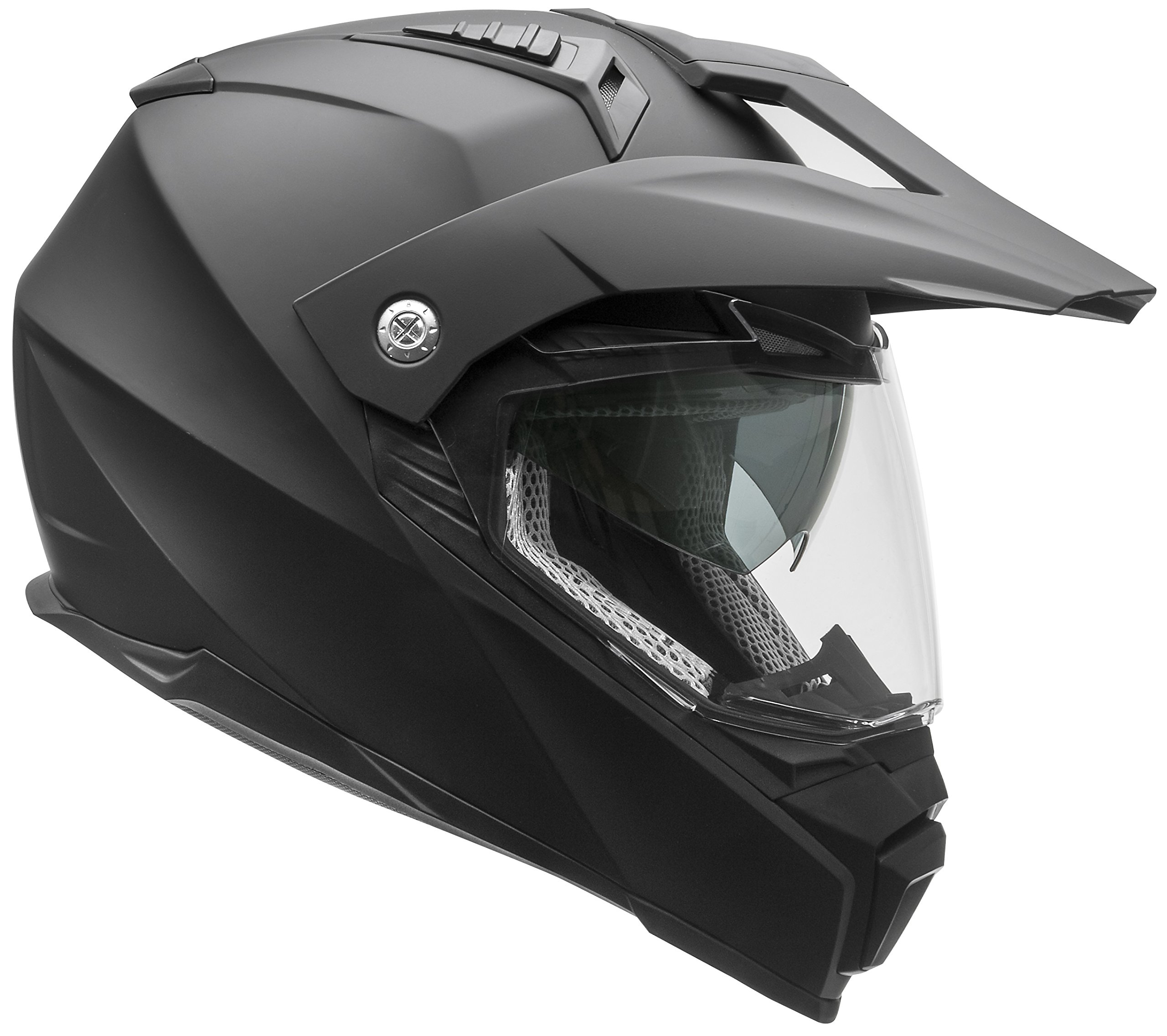 Vega Helmets Cross Tour 2 Dual Sport Helmet with Internal Sun Visor – Full Face Motorcycle Helmet for Motocross ATV MX Enduro Quad, 5 Year Warranty (Matte Black, X-Large)