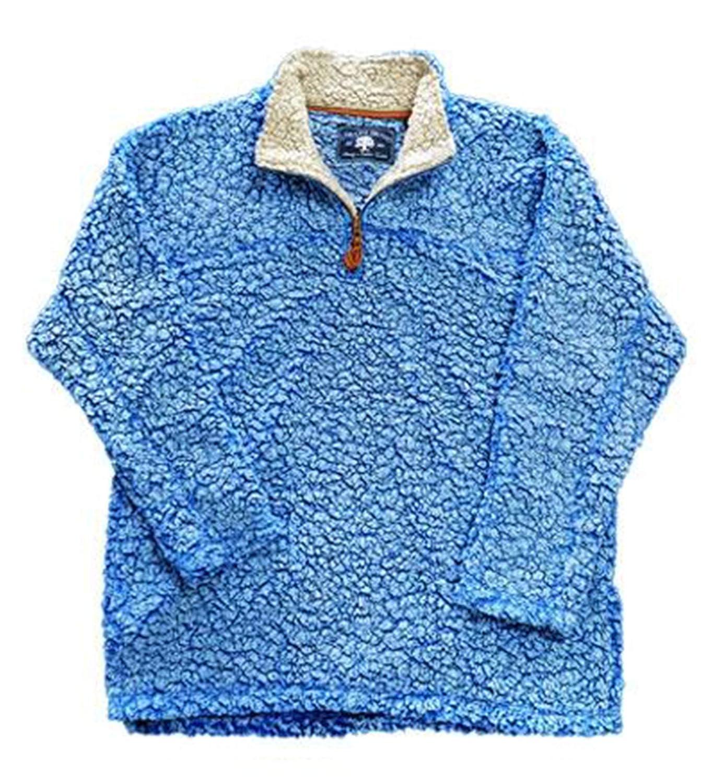 Live Oak Youth 1//4 Zip Fleece Pullover-Powder Blue-Large FLOB01Y-POWO
