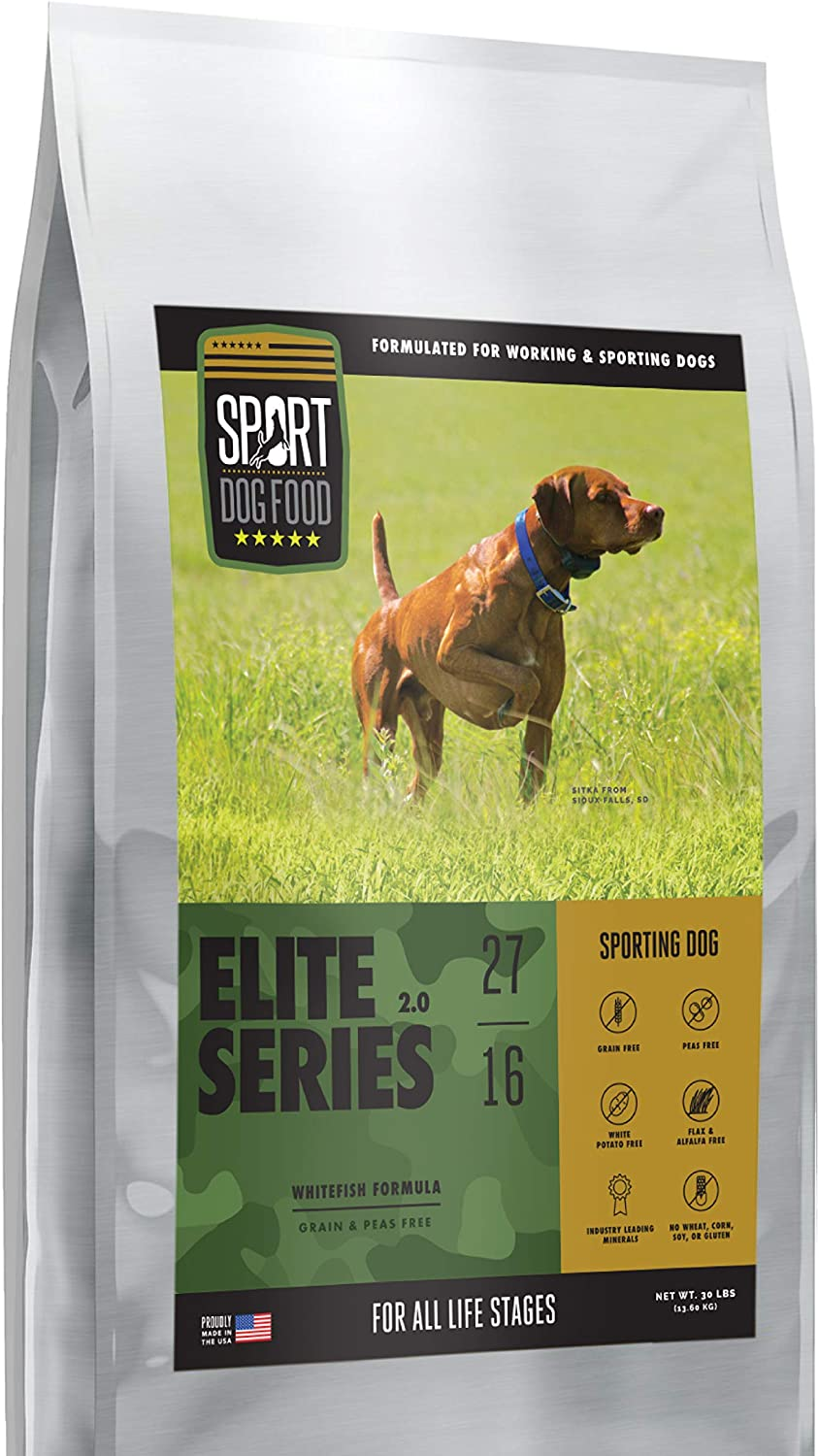 Elite Series Sporting Dog Whitefish Formula, Grains and Peas Free Dry Dog Food, 30 lb. bag
