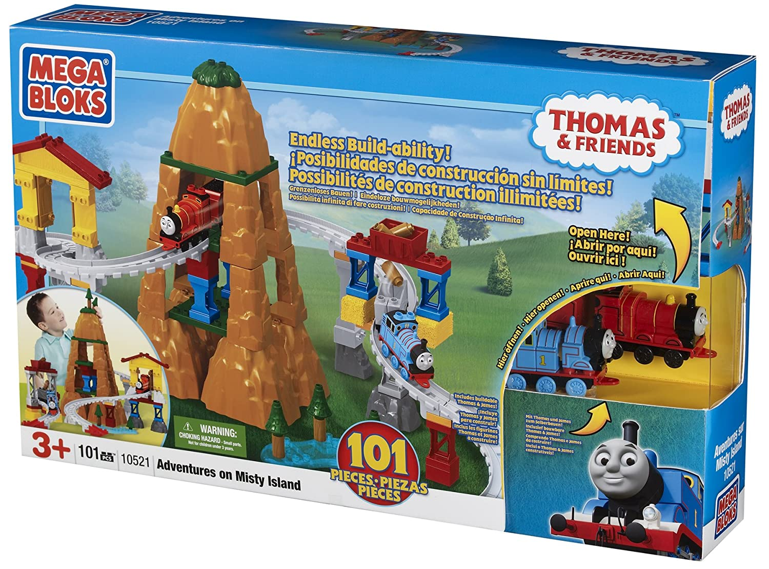Amazon Mega Bloks Thomas Adventure On Misty Island Toys Games