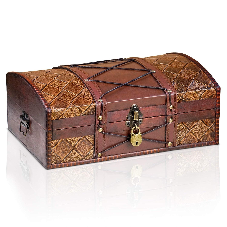 Brynnberg Scrigno del tesoro vintage 35x23x14cm - con lucchetto
