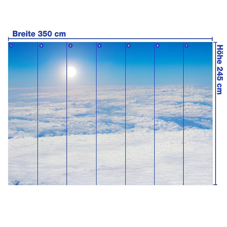 Fototapete Wolkenboden XL 350 x 245 245 245 cm - 7 Teile Vlies Tapete Wandtapete - Moderne Vliestapete - Wandbilder - Design Wanddeko - Wand Dekoration wandmotiv24 dce013
