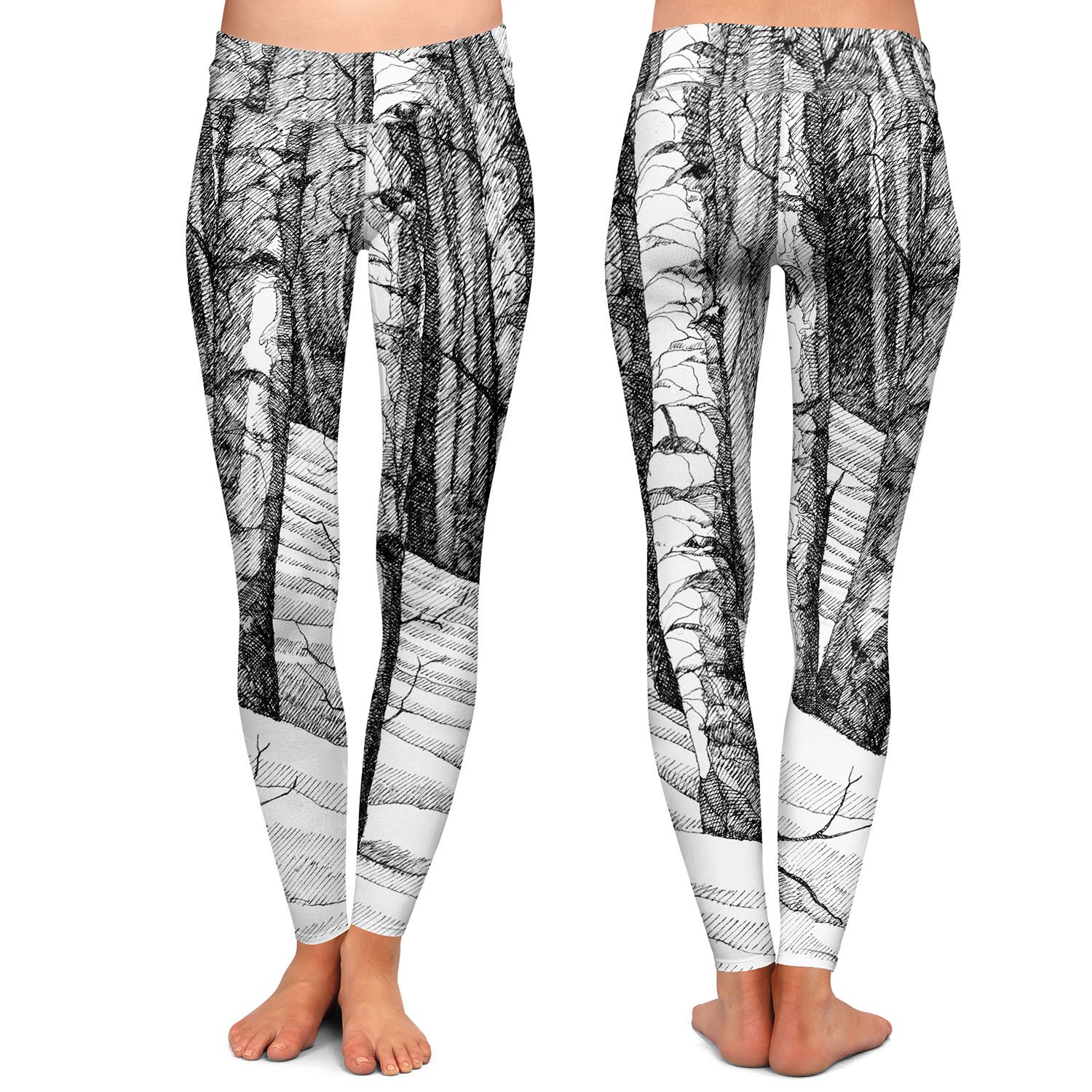 Dont Snowboard Here Athletic Yoga Leggings from DiaNoche Designs by Gerry Segismundo