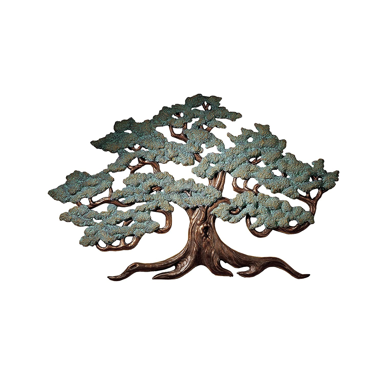 Design Toscano Asian Decor Ancient Tree of Life Wall Sculpture, 94 cm, Polyresin, Bronze Verdigris Finish NG32454