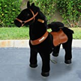 PonyCycle Official PonyCycle Ride On Horse No Battery No Electricity Mechanical Horse Black Small for Age 3-5