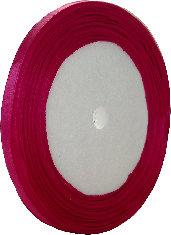 LIVRAISON GRATUITE 22 METRES DE RUBAN SATIN ROSE FUSCHIA 6mm SCRAPBOOKING CREATION PERLES