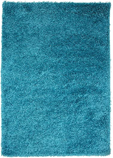 Soft Non Shed Thick Plain Easy Clean Shaggy Area Rugs Ontario – 16 Colours and 14 Teal 2 x 3 7