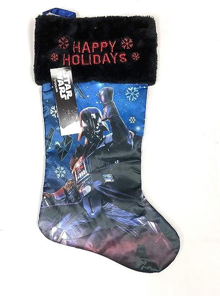 Star Wars Darth Vader Christmas Stockings Blue with Black Fur Trim
