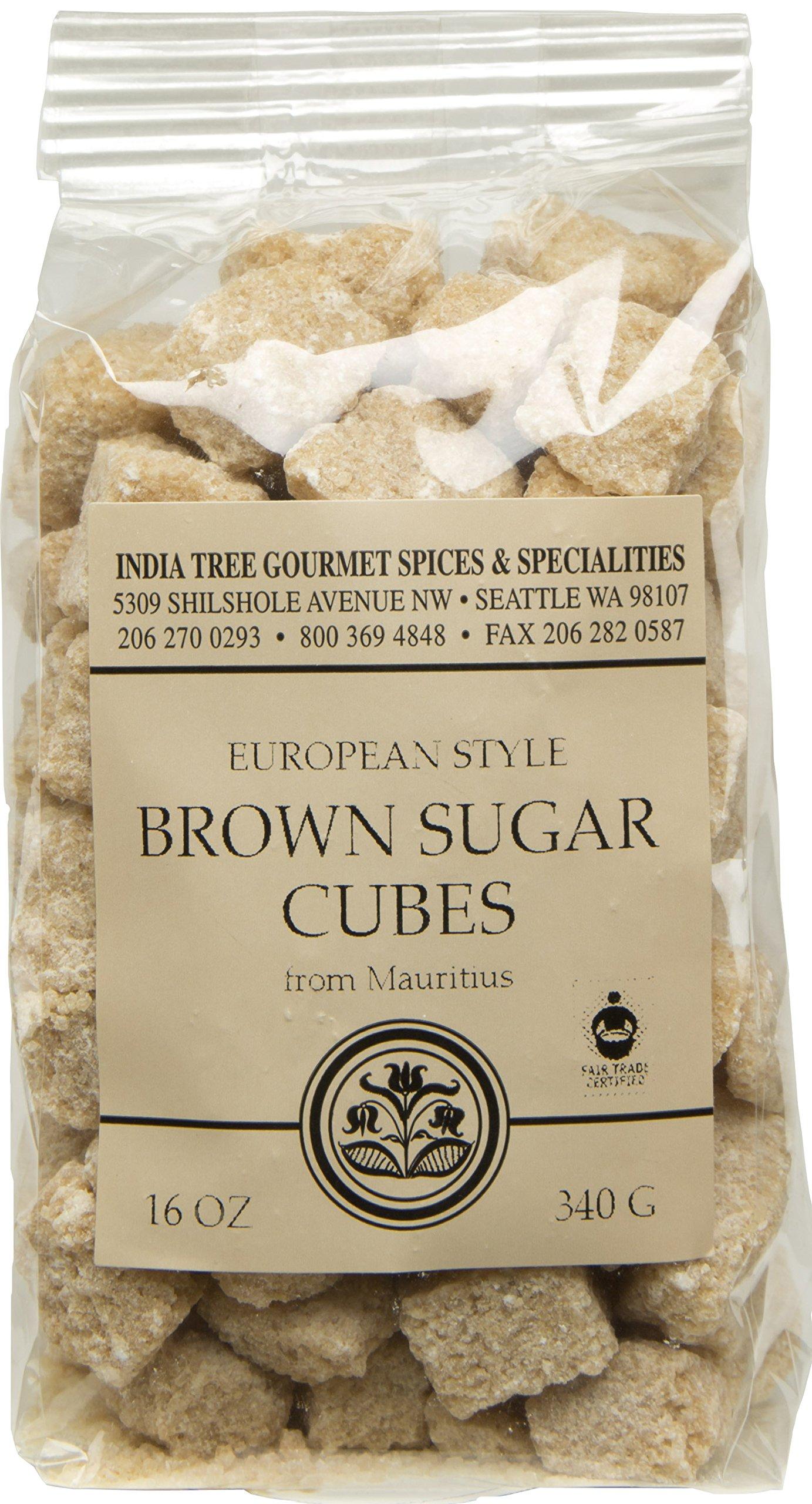 India Tree Brown European-Style Sugar Cubes, 12 oz Bag (Pack of 3)