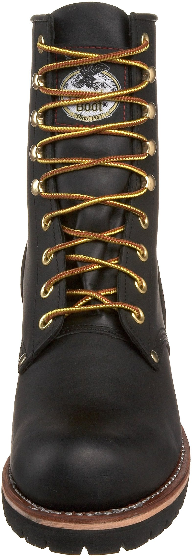 Georgia Boot Men's Logger 8'' Black Non Steel,Oily Black,5 M US by Georgia Boot (Image #4)