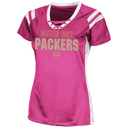 871d93698 Image Unavailable. Image not available for. Color  Green Bay Packers Women s  Majestic Draft Me VI Jersey Top ...