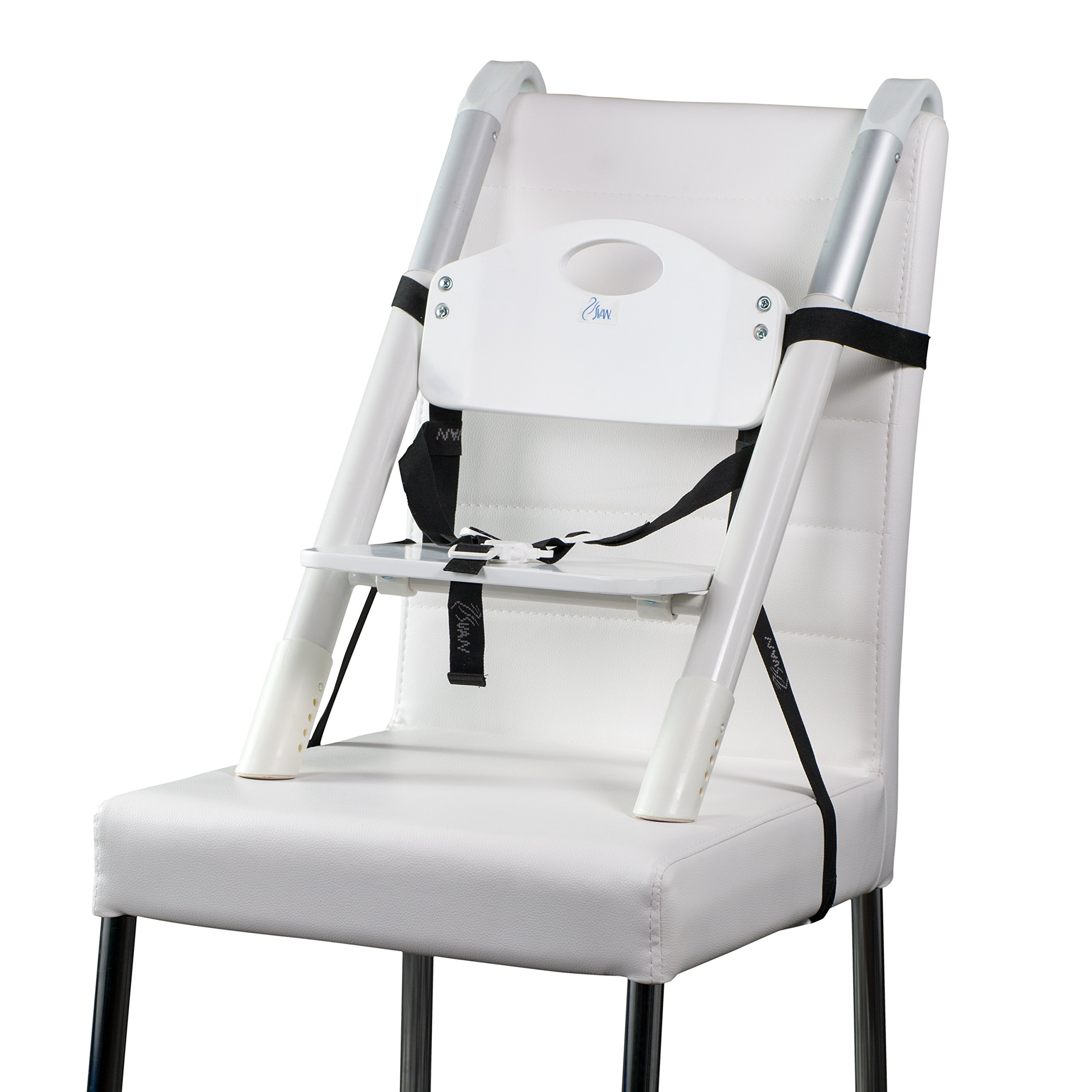 Booster Seat - Svan Lyft High Chair Booster Seat - Adjusts Easily to Most Chairs - White (18 Mo to 5 Yrs) by Svan