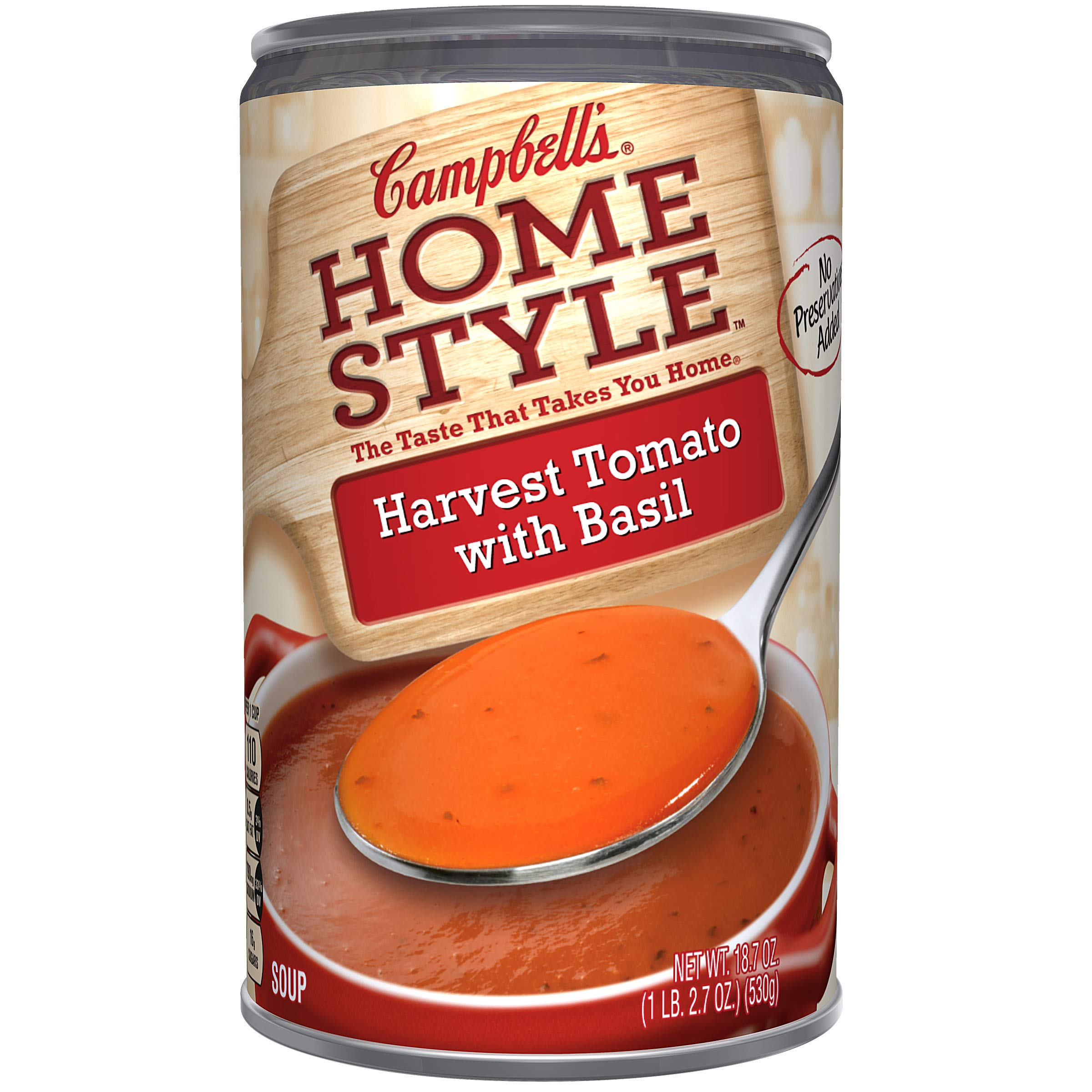 Campbells Homestyle Harvest Tomato with Basil Soup, 18.7 oz.