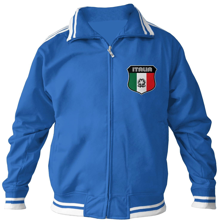 Amdesco Mens Italian Pride, Italia Italy Track Jacket