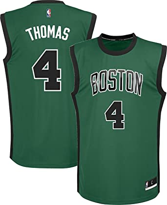 10a14371acaa Outerstuff Isaiah Thomas Boston Celtics  4 Green Black Alternate Youth  Replica Jersey (Small 8