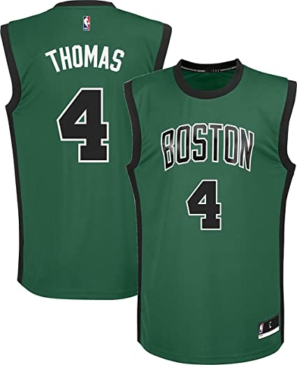 promo code f4cb9 882bf Amazon.com: Outerstuff Isaiah Thomas Boston Celtics #4 Green ...