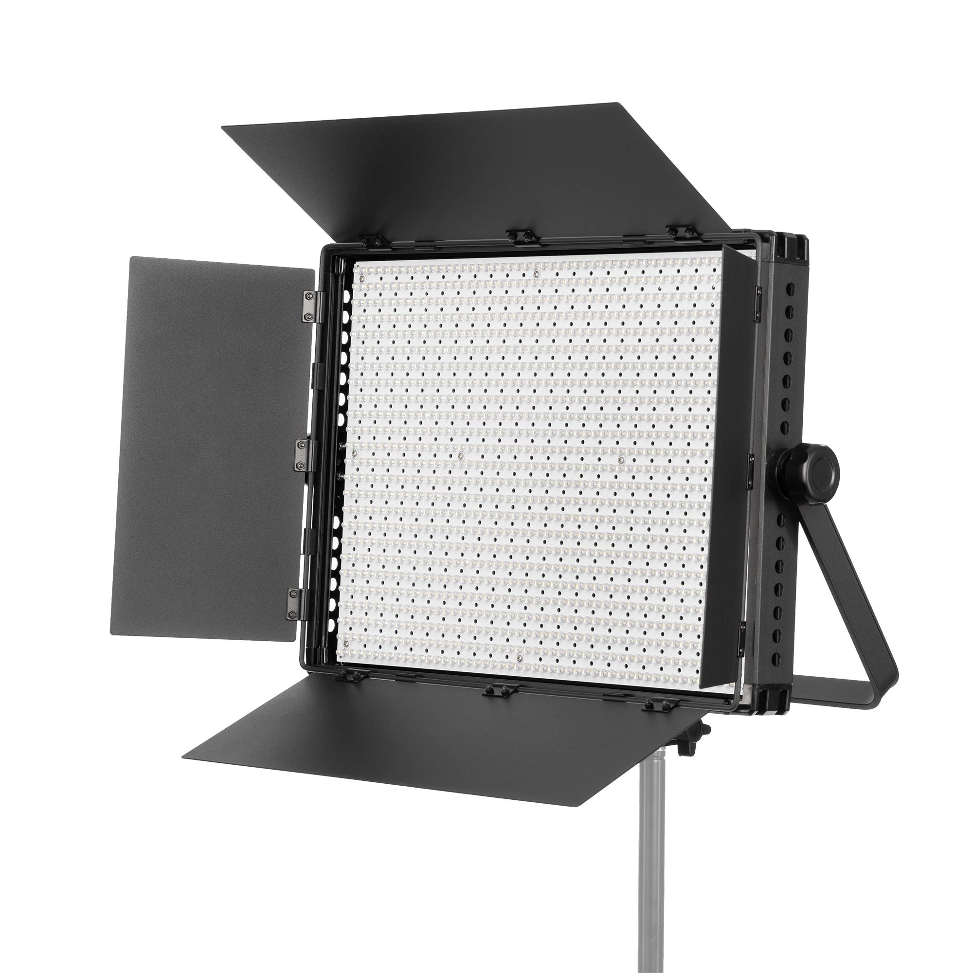 FOVITEC - Ultra-Bright 1200 LED Daylight Panel for Video and Photo with Barndoors, DMX, V-Lock Mount, and Case by FOVITEC