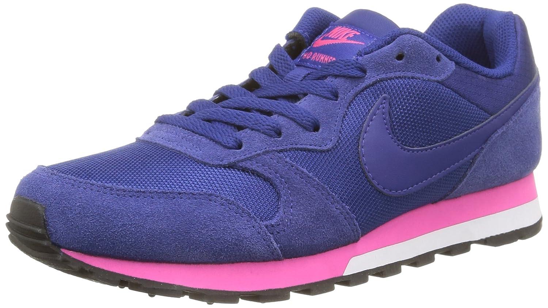 Bleu (bleu (Deep Royal bleu Deep Royal bleu rose Fl blanc 446)deep Royal bleu Deep Royal bleu rose F Nike MD Runner 2, Baskets Mode Femme 36 EU