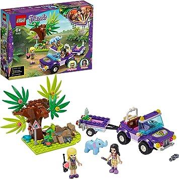LEGO Pulse Theme Friends Rescate en la Jungla del Bebé Elefante Set de Juego con Stephanie, Serie Campamento de Aventuras, Multicolor (41421): Amazon.es: Juguetes y juegos