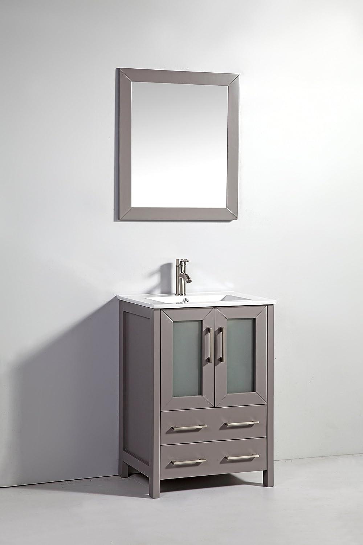 Vanity Art 60 inch Double Sink Bathroom Vanity Set with Ceramic Top ...