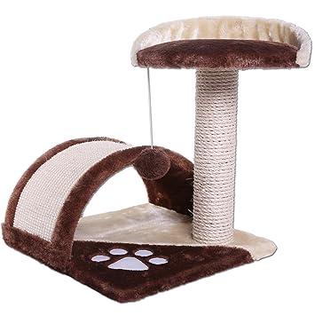 Dibea KB00101 Árbol para Gatos, Rascador Pequeño, Altura 43 cm, Color Marrón y