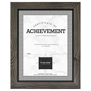 579c628f7fc8 Amazon.com - Timber Distressed Gray Black Wood Frame by MCS - 8.5x11 -
