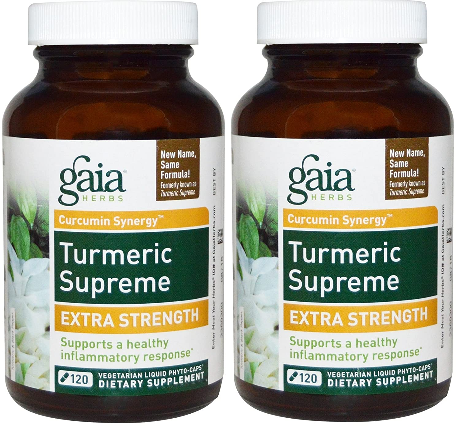 Gaia Herbs Turmeric Supreme Extra Strength 120 ct Pack of 2