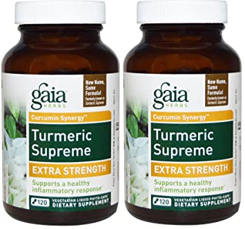 Com Gaia Herbs Turmeric Supreme Extra Strength 120 Ct Pack Of 2 Health Personal Care