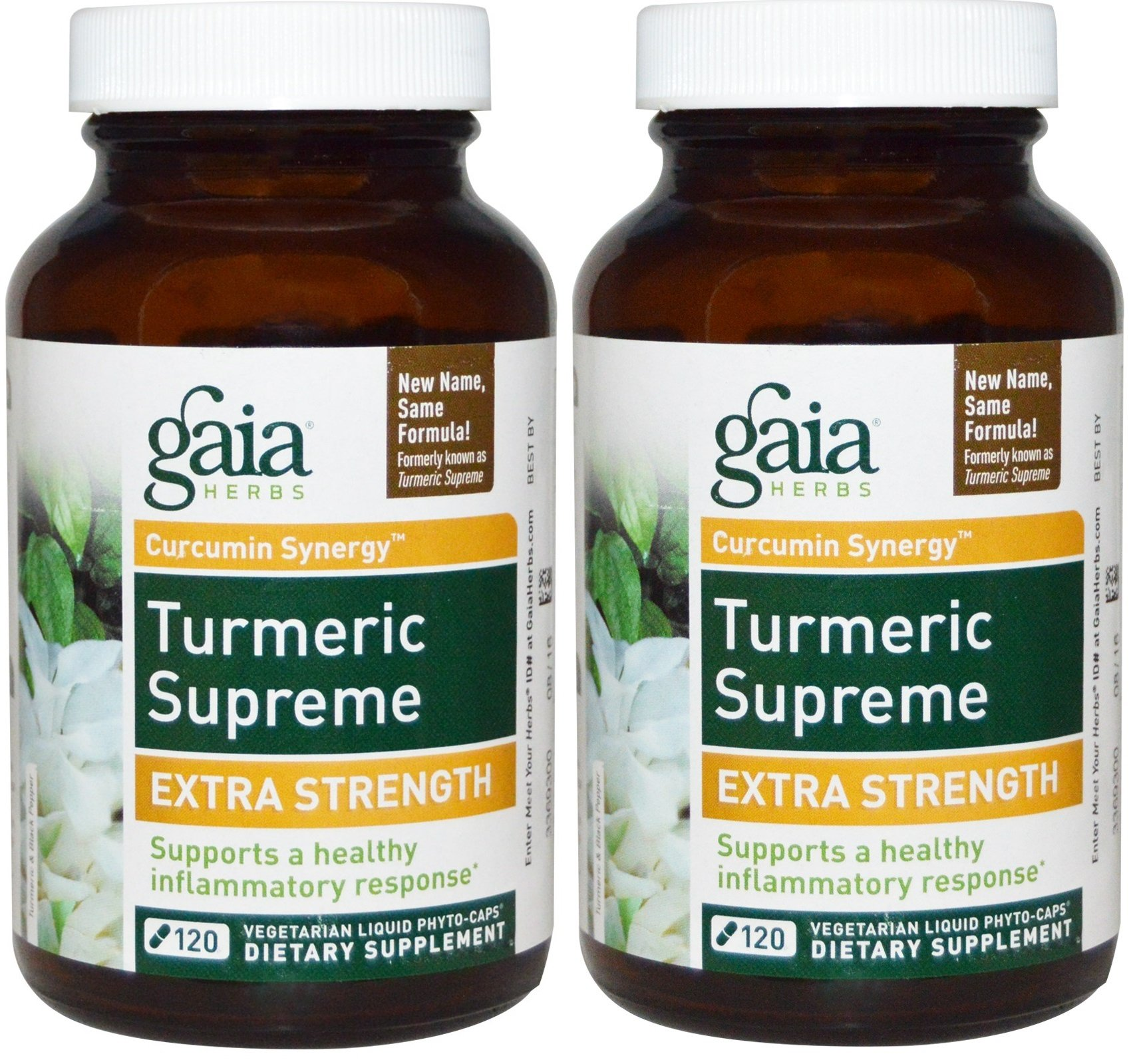 Gaia Herbs Turmeric Supreme Extra Strength 120 ct (Pack of 2)