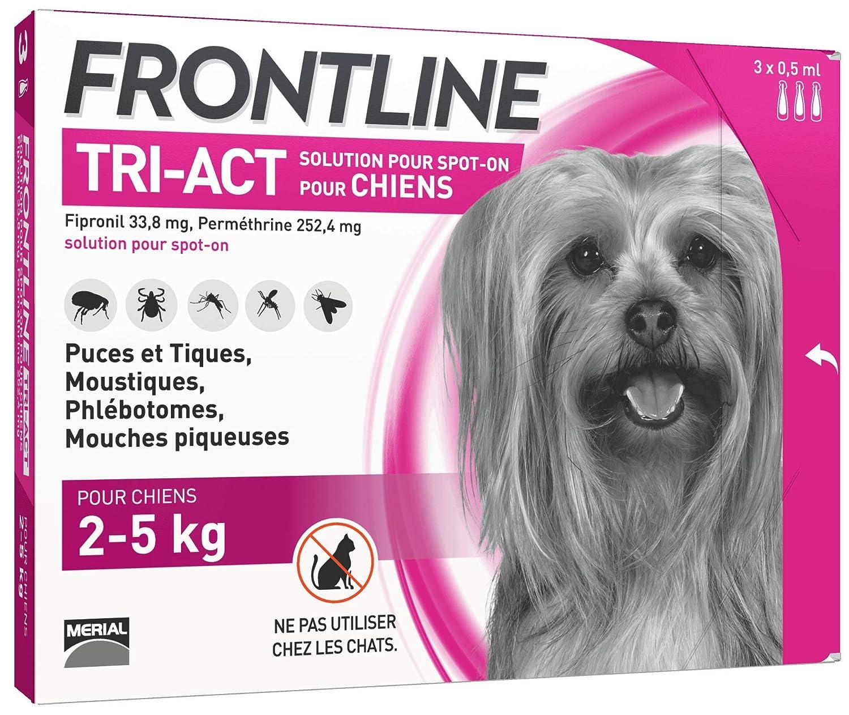 FRONTLINE TRI-ACT Chien - Anti-puces et anti-tiques pour chien - 40-60kg - 6 pipettes 14169
