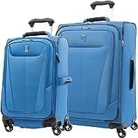 Travelpro Maxlite 5 Softside Expandable Spinner Wheel Luggage, Azure Blue, 2-Piece Set (21/25)