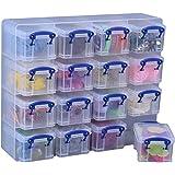 Really Useful Box Organizer-Box, verschiedene Farben, 16Stück 0.3 Litre farblos