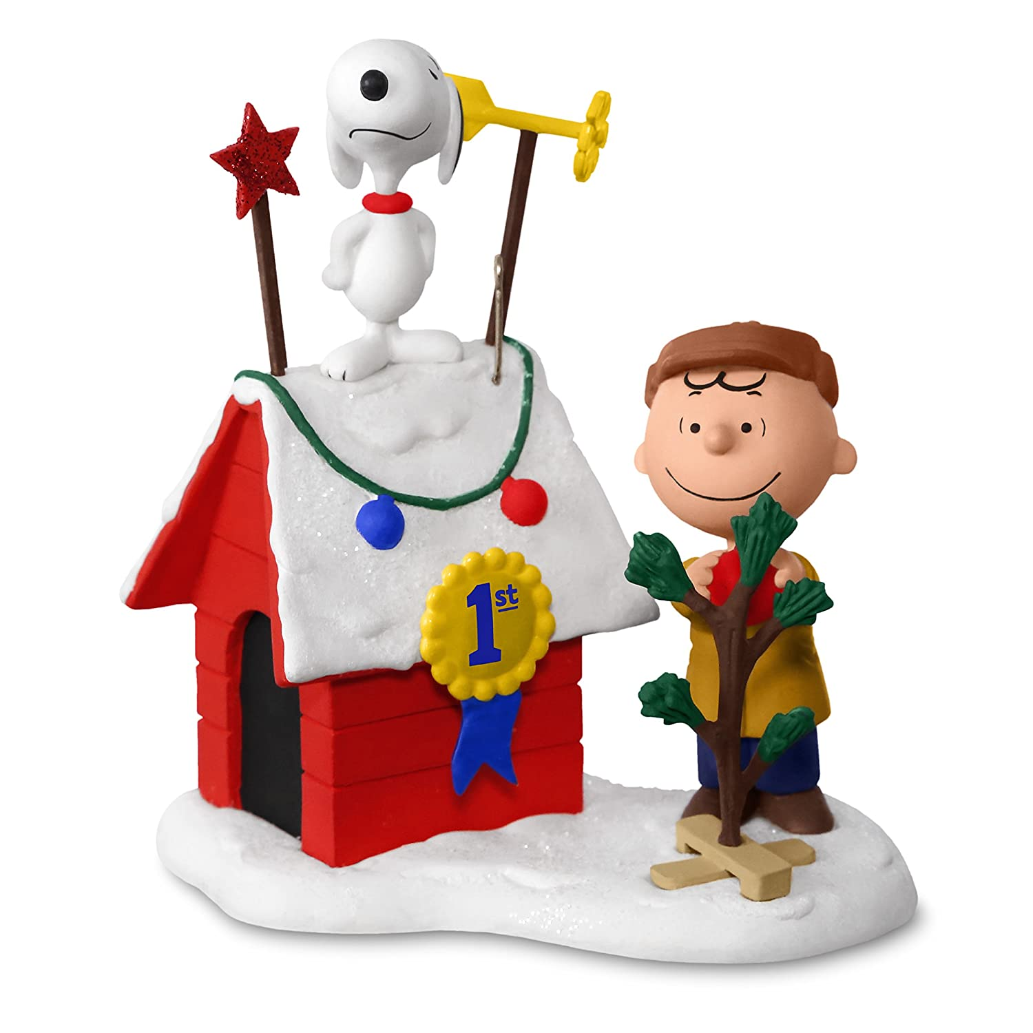 Amazon.com: PEANUTS Charlie Brown and Snoopy Decked-Out Doghouse ...