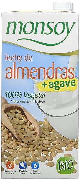 MONSOY Bebida de Almendras con Agave Ecologica 1L [caja de 4 x 1L]