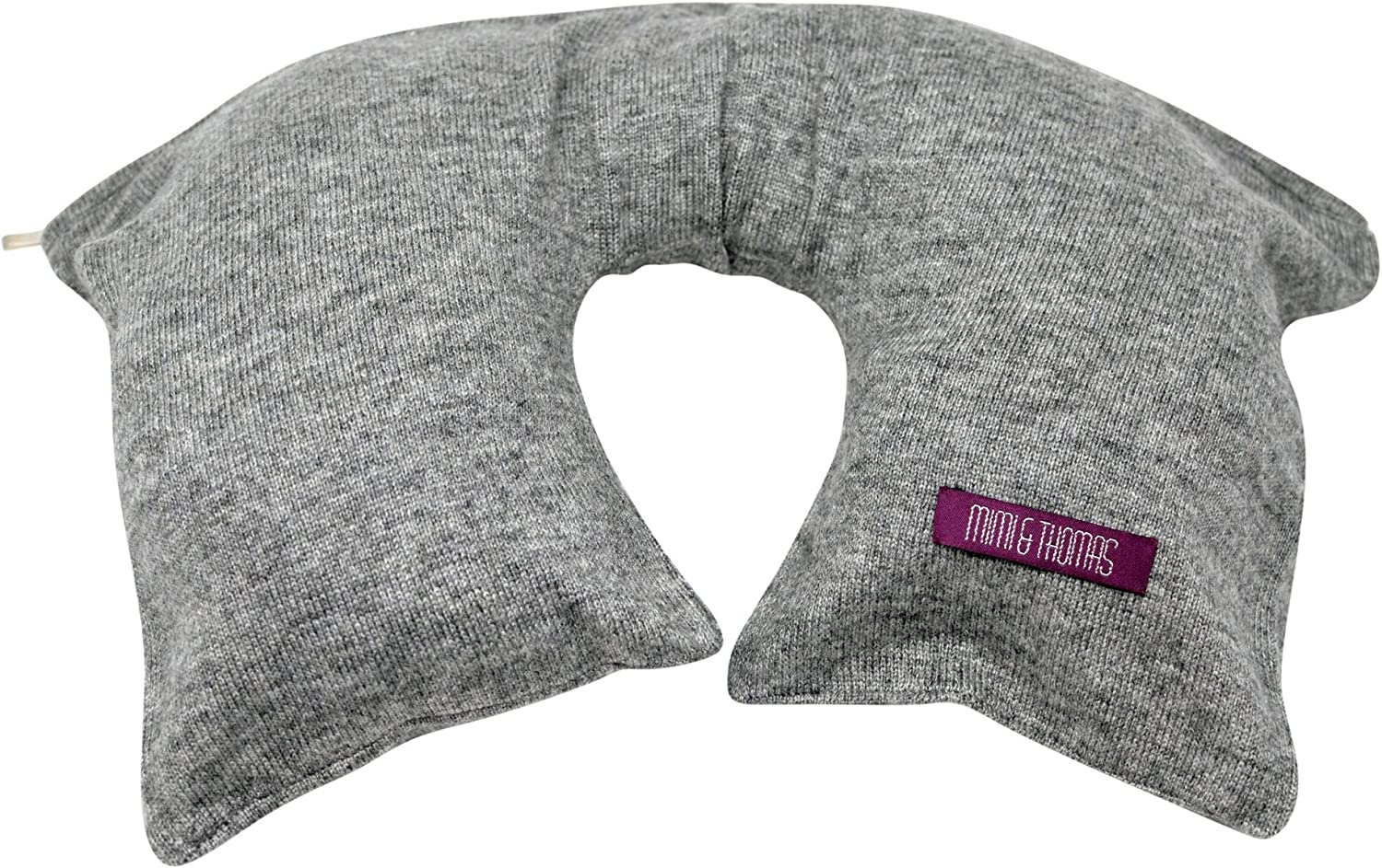 Travel Pillow Travel Blanket Grey Marl 100/% Pure Cashmere Travel Set Eye mask Socks in Carry case