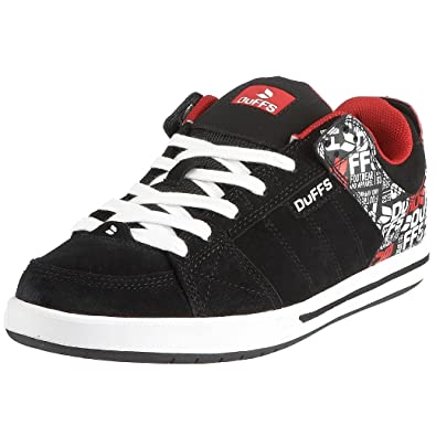 27979f0fec Duffs Men s Neo BOOM PRINT Skateboarding Shoe Black Red D085-BRD 6 ...