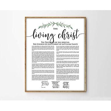 TimPrint The Living Christ Print Modern LDS Print Living Christ Art Framed Print