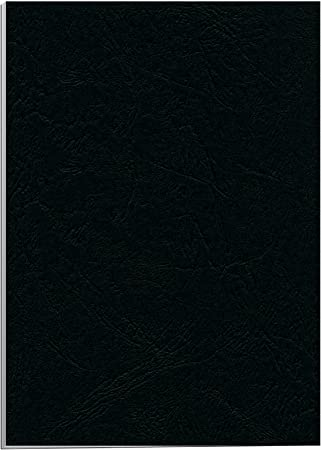 Fellowes Portadas para encuadernar de cartón símil piel Delta Cuero, extra rígido, 250 micras, 100% reciclables, formato A4, con certificación FSC, pack de 25, color negro: Amazon.es: Oficina y papelería