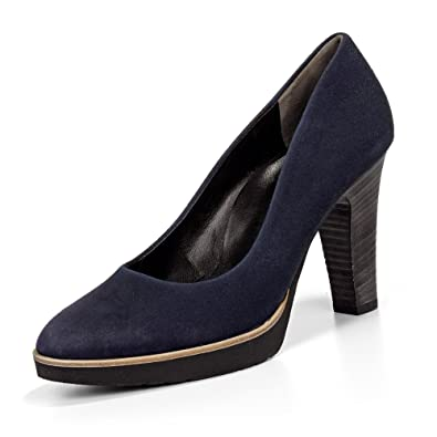 Paul Green Damen Pumps (7, Blau)