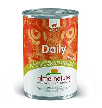 Almo nature - Alimento Diario para Gatos, 400 g, Grano Libre con Turquía,