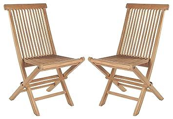 Gartenstühle holz  2er Set Klappstühle Teak Gartenstühle Holz Campingstühle Klappstuhl ...