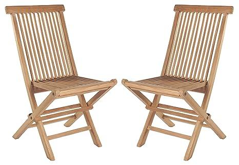 Wholesaler Gmbh 2er Set Klappstühle Teak Gartenstühle Holz