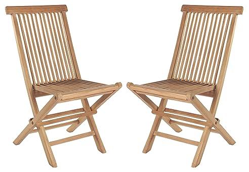 Gartenstühle holz  2er Set Klappstühle Teak Gartenstühle Holz Campingstühle ...