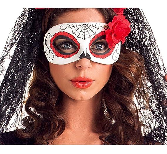 842c1db784b Amazon.com: Party King Women's Day of The Dead Senorita Costume Mask ...