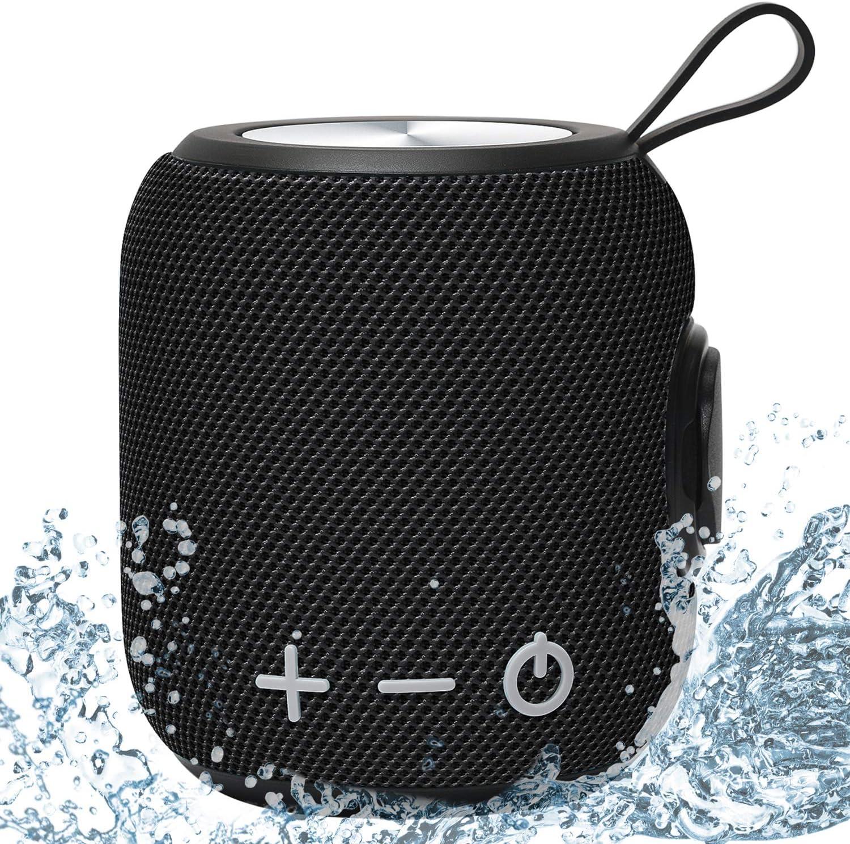 Sanag Altavoz Portátil Impermeable IPX7 con Bluetooth 5.0, con graves profundos y controlador de Graves Duales, Altavoz TWS Estéreo, 12 Horas de Tiempo de Reproducción (Negro)