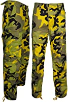Men's Camouflage Trouser With Cargo Combat Pockets Army Bottom