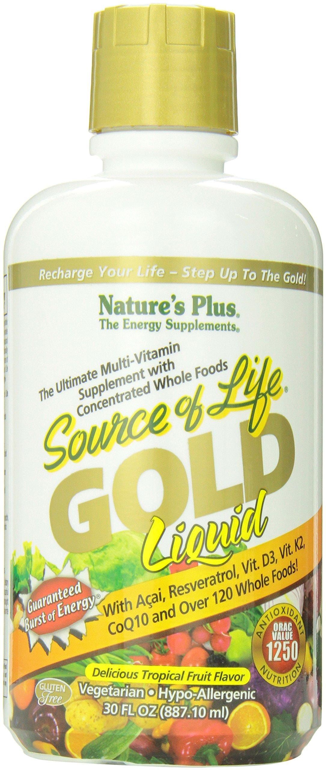 Nature's Plus - Source of Life GOLD Liquid - Tropical Fruit Flavor, 30 fl. oz.